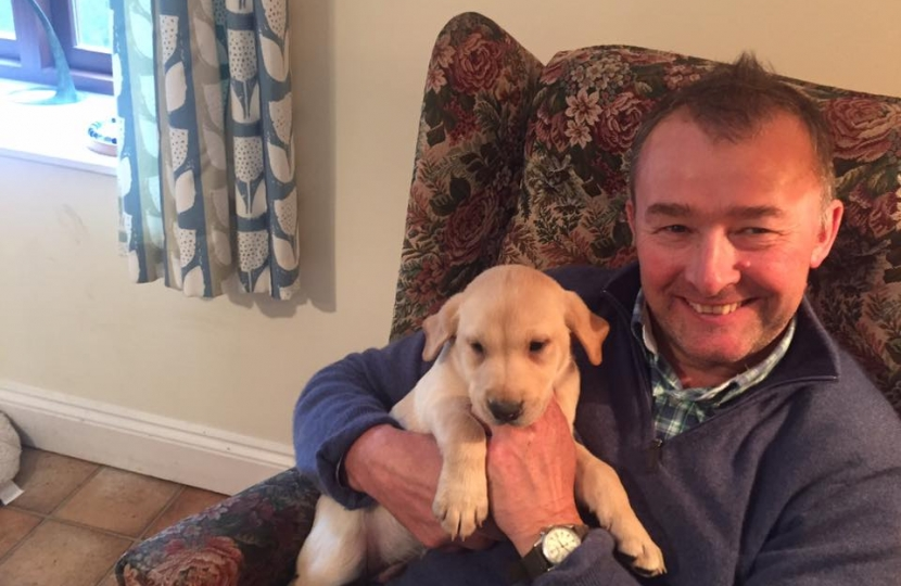 Simon Hart MP is supporting a crackdown on third party puppy sales and puppy farming